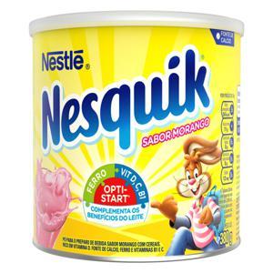 Pó para Preparo de Bebida Morango Nestlé Nesquik Lata 380g