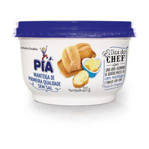 Manteiga Pia 200G Pt S/Sal