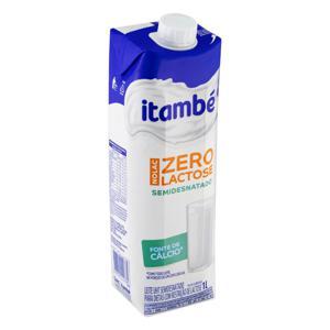 Leite UHT Semidesnatado Zero Lactose Itambé Nolac  1l