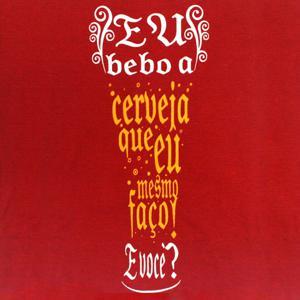 Camiseta Vermelha Copo - Tam. P