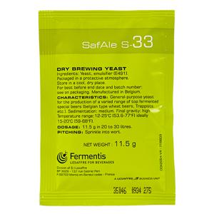 Fermento SafAle™ S-33 - Fermentis 11,5g