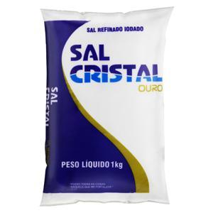 Sal Refinado Iodado Cristal Ouro Pacote 1kg