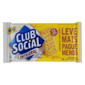 Pack Biscoito Integral Club Social Pacote 288g 12 Unidades Embalagem Econômica Leve Mais Pague Menos