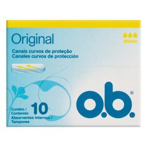 Absorvente Interno Original O.B. Médio Caixa 10 Unidades