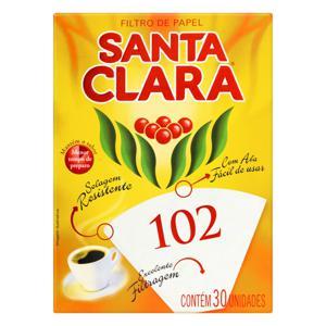 Filtro de Papel Santa Clara 102 Caixa 30 Unidades