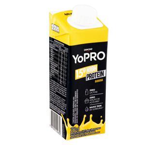Bebida Láctea UHT Banana Zero Lactose YoPRO 15g High Protein Caixa 250ml