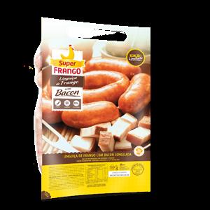 Linguiça de Frango SUPERFRANGO Congelada com Bacon 800g