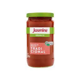 Molho de tomate tradicional orgânico Jasmine - 330g