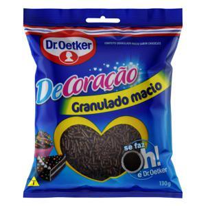Confeito Granulado Macio Chocolate Dr. Oetker DeCoração Pacote 130g