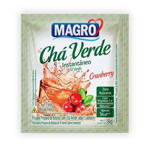 Chá verde instantâneo sabor cranberry Magro - sachê 8 g