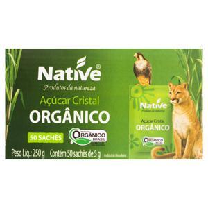 Açúcar Cristal Orgânico Native Caixa 250g 50 Unidades