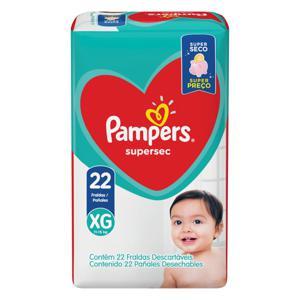Fralda Descartável Infantil Pampers Supersec XG Pacote 22 Unidades