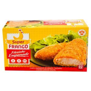 Empanado de Frango Filezinho Congelado Super Frango Caixa 500g