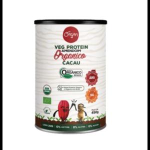Proteína Vegana de Amendoim com Caucau Orgânica 450g - Organ