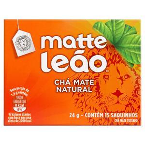 Chá Mate Natural Matte Leão Caixa 24g 15 Unidades