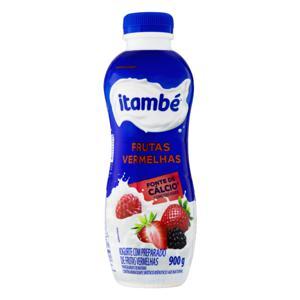 Iogurte Parcialmente Desnatado Frutas Vermelhas Itambé Garrafa 900g