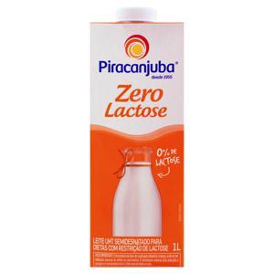Leite UHT Semidesnatado Zero Lactose Piracanjuba Caixa com Tampa 1l