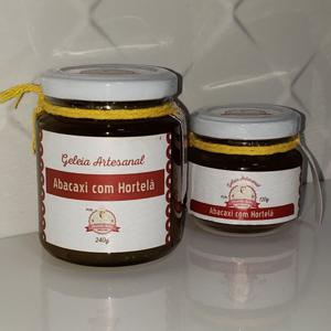Geleia de Abacaxi com Hortelã 120g - Amanda Sales Confeitaria