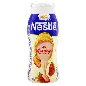 Iogurte Parcialmente Desnatado Morango Nestlé Frasco 170g