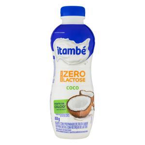 Iogurte Parcialmente Desnatado Coco Zero Lactose Itambé Nolac Garrafa 850g