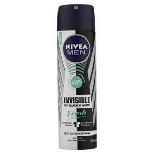 Antitranspirante Aerossol Nivea Men Invisible for Black & White Fresh 150ml