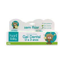 Gel Dental Sem Flúor 0 a 3 Anos Boni 50g