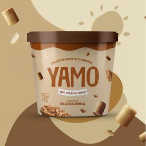 Sorvete de Paçoquinha Zero Açúcar 150ml - Yamo