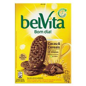 Biscoito Integral Cacau & Cereais Belvita Caixa 75g 3 Unidades