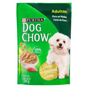 Alimento para Cães Adultos Peru ao Molho Purina Dog Chow Sachê 100g