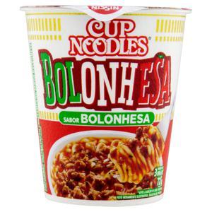 Macarrão Instantâneo Bolonhesa Nissin Cup Noodles Copo 72g