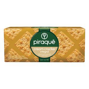 Biscoito Cream Cracker Integral Piraquê Pacote 240g