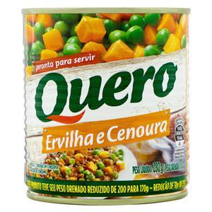 Ervilha e Cenoura em Conserva Quero Lata 170g