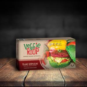 Hambúrguer Vegano Feijão Vermelho 360g - Veggie Roots