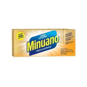 Sabão em Barra MINUANO Glicerina Amarelo 1Kg