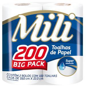 Toalha De Papel MILI 200 Folhas