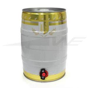 Mini Keg 5l Com Torneira - Dourada
