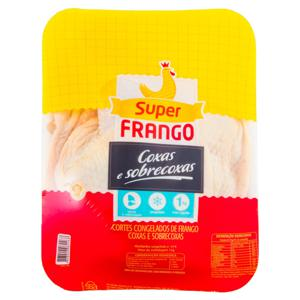 Coxa com Sobrecoxa de Frango Congelada SUPERFRANGO 1kg