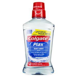 Enxaguante Bucal Soft Mint Colgate Plax Frasco Leve 500ml Pague 350ml