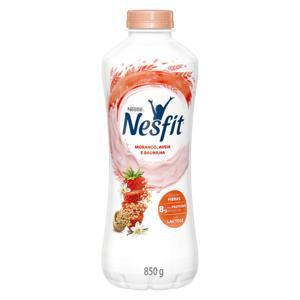 Iogurte Desnatado Morango, Aveia e Baunilha Zero Lactose Nestlé Nesfit Garrafa 850g