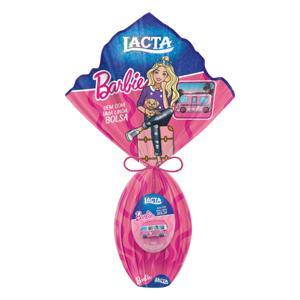 Ovo de Páscoa ao Leite Barbie Lacta 166g Vem com Bolsa