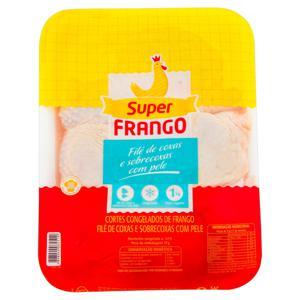 Filé de Coxa e Sobrecoxa de Frango Congelado SUPERFRANGO 1kg