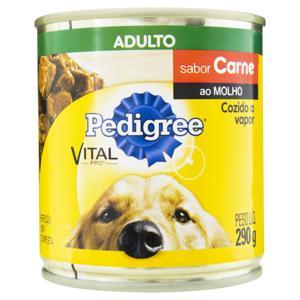 Alimento para Cães Adultos Carne ao Molho Pedigree Vital Pro Lata 290g