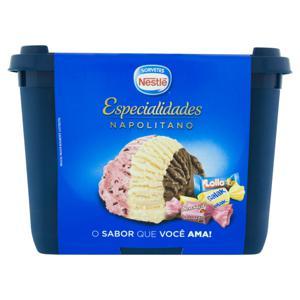 Sorvete Napolitano Nestlé Especialidades Pote 1,5l