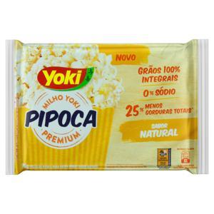 Pipoca para Micro-Ondas Natural Zero Sódio Yoki Premium Pacote 90g
