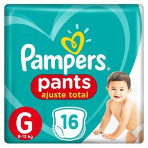 Fralda Descartável Pampers Pants Ajuste Total Tam G pacote c/16 unidades