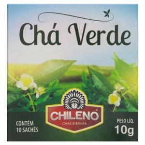 Chá Verde Chileno Caixa 10g 10 Unidades