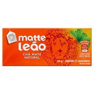 Chá Mate Natural Matte Leão Caixa 40g 25 Unidades