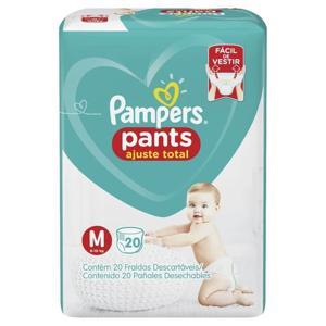 Fralda Descartável Pampers Pants Ajuste Total Tam M pacote c/20 unidades
