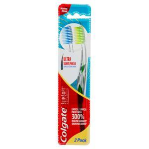 Escova Dental Ultra Macia Colgate Slim Soft 2 Unidades