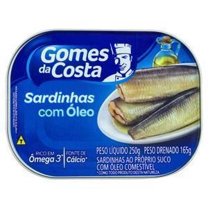 Sardinha com Óleo Gomes da Costa Lata 165g